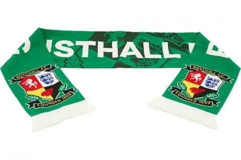 custom deluxe football scarf Rusthall FC 1st design