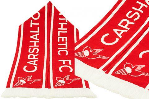 custom hd football scarf Carshalton Athletic FC