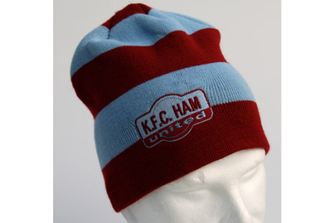 Beanie Hat with embroidered badge kfc Ham