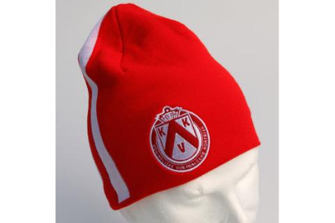 Beanie hat with embroidered crest KKV