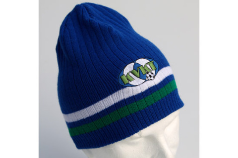 Beanie hat with embroidered emblem KVKT