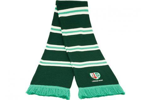 custom bar scarf with embroidery London Irish rugby