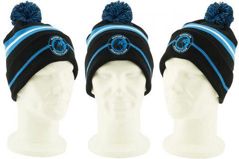 custom beanie hat with embroidered badge Murder on Zidanesfloor