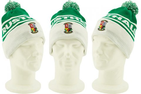 custom beanie hat with embroidered badge Rusthall FC