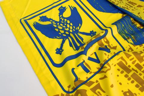 Custom printed flag STVV detail