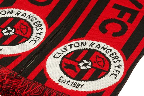 custom jacquard scarf Clifton Rangers fc