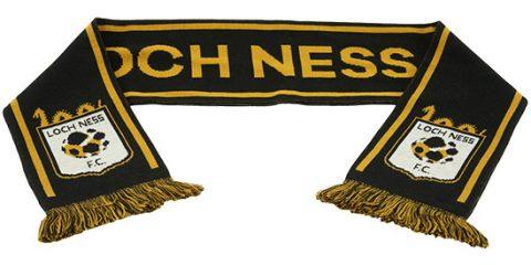 custom jacquard scarf Loch Ness FC