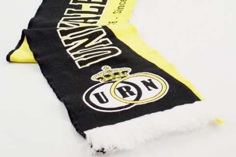 Custom one sided woven club scarf