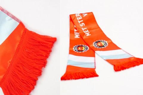 Custom printed scarves detail