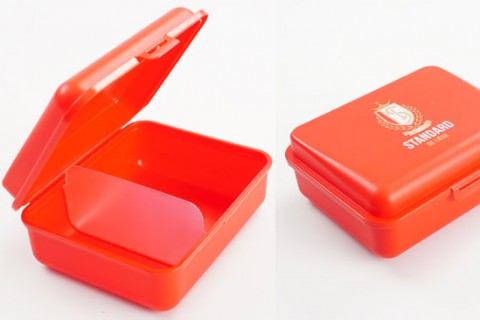 Custom lunch box with divider inside