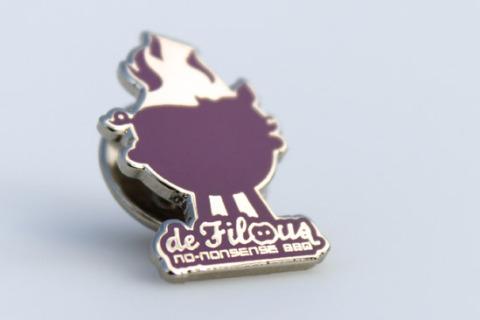 Custom pin purple