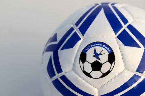 Custom printed football size 5 white blue