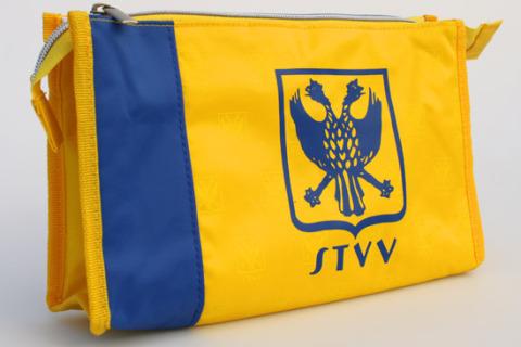 custom toiletry bag yellow blue