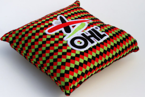 Custom woven pillow squares
