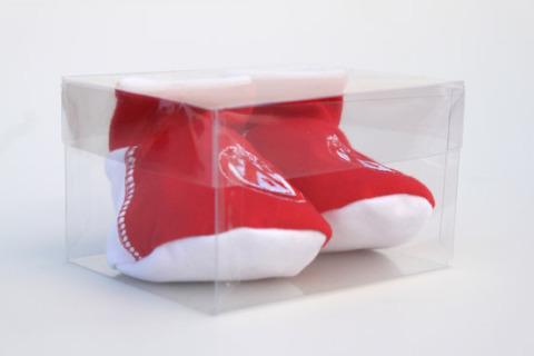 Custom baby booties packaging