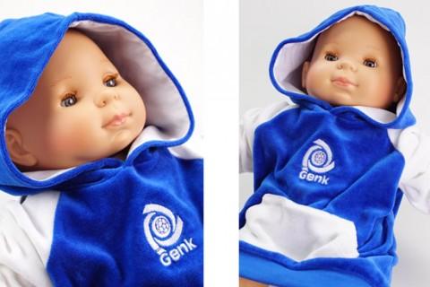 Custom baby hoodies blue