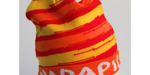 Custom beanie hat with border