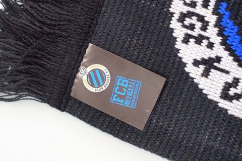 Custom printed label on scarf