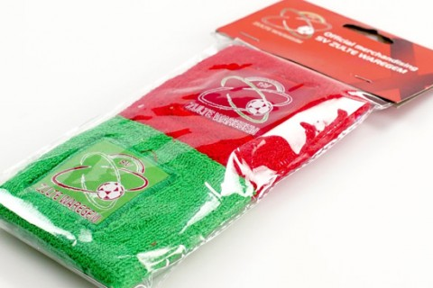 Personalised sweadbands with custom header card