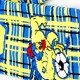 Deluxe HD football scarf Westerlo detail
