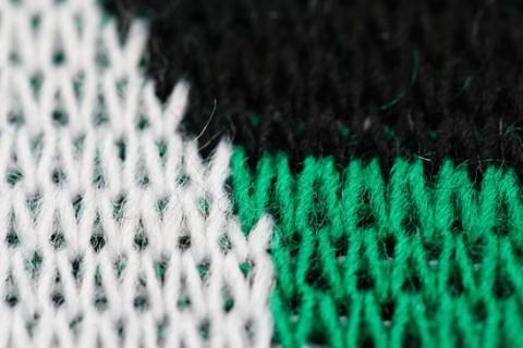 Jacquard scarf detail weaves 3 colours