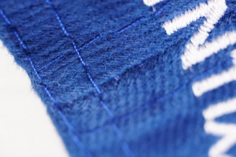 Custom cap stitching detail