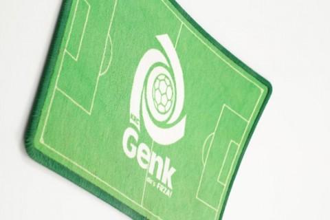 Custom floor mat with football pitch design