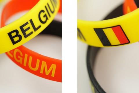 Custom silicon bracelets detail