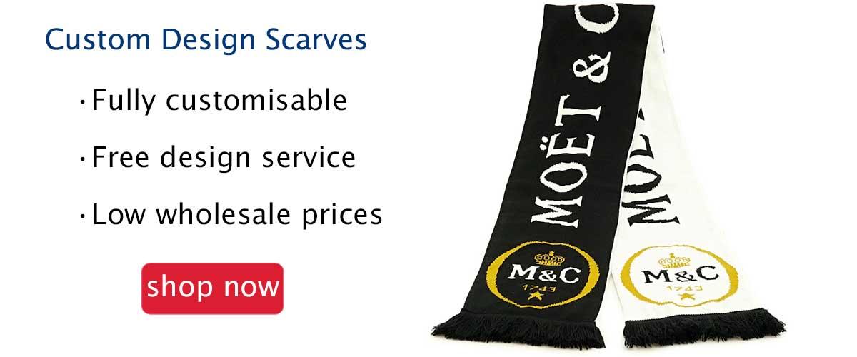 Custom design scarves wholesale