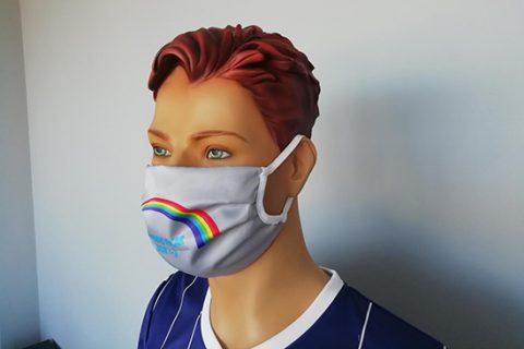 custom face mask on model