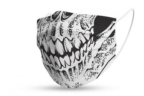 custom face mask trendy skull