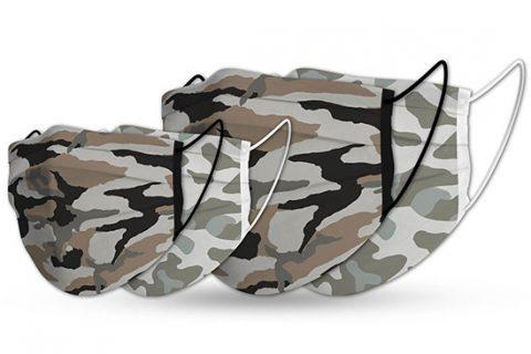custom adult & kids face masks camouflage design