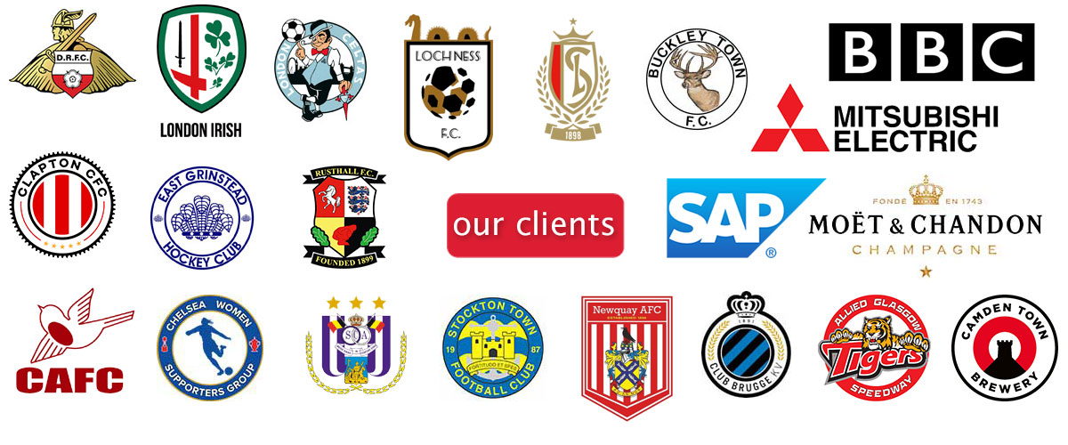 Our scarves and fan merchandising clients